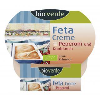 Feta-Creme Knoblauch-Peperoni 125g, N 45% , MHD 18.04