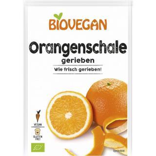 Orangenschale gerieben,  9g