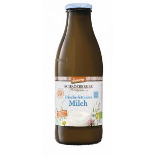 DEMETER Fettarme Milch 1l, Glas 1,5%,