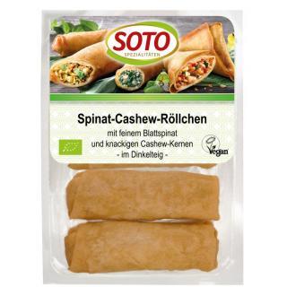 Spinat-Cashew-Röllchen 200g