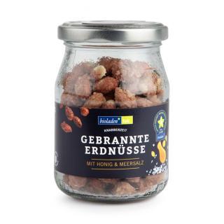 b*gebrannte Erdnüsse mit Honig & Salz, 125g