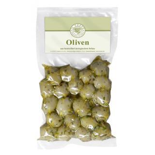 Oliven, grün mariniert 150g