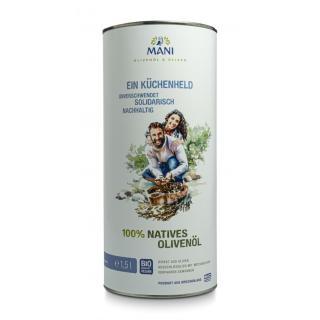 Olivenöl 100 % nativ, 1,5l aus Griechenland