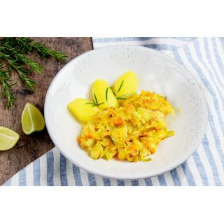 Rezept gelb - Breite Zucchininudeln mit Gemüse